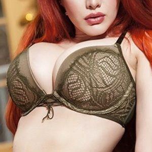 Victoria's Secret Green Mesh Lace Push Up Bra